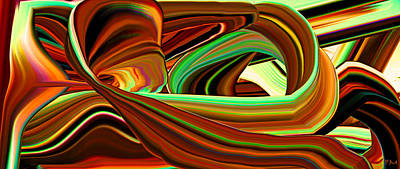 Digital Art - Extruded Colors 11 by Phillip Mossbarger