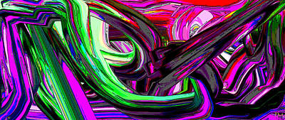 Digital Art - Extruded Rg by Phillip Mossbarger