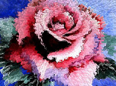 Extruded Rose Art Print