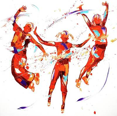 Freedom Painting - Exuberance by Penny Warden