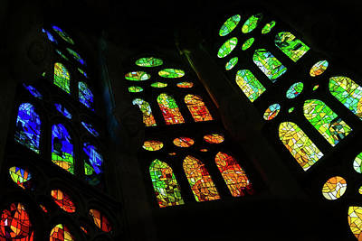 Photograph - Exuberant Stained Glass Windows by Georgia Mizuleva