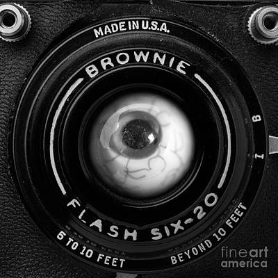 Vintage Camera Wall Art - Photograph - Eye Am A Camera Surreal Photography by Edward Fielding