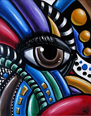 Painting - Eye Abstract Art Painting - Intuitive Chromatic Art - Pineal Gland Third Eye Artwork by Ai P Nilson