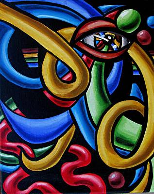 Eye Am The Prize - Chromatic Abstract Painting - Print Art Print