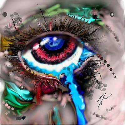 Digital Art - Eye Ball Study One by Darren Cannell