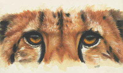 Painting - Eye-catching Cheetah by Barbara Keith