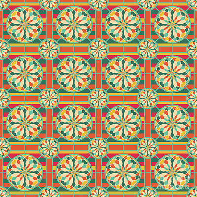 Abstract Colorful Algorithmic Digital Contemporary Digital Art - Eye-catching Geometric Pattern by Gaspar Avila