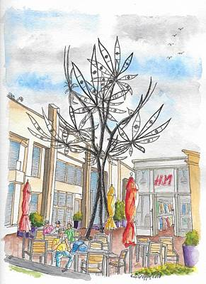 Eye Flower, Sculpture By James Surls In Sunset Plaza, West Hollywood, California  Art Print