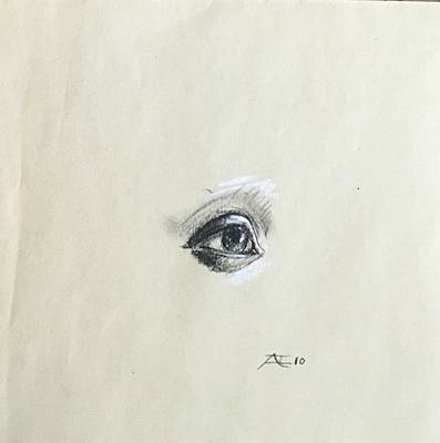 Drawing - Eye From Life by Alejandro Lopez-Tasso