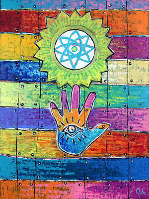 Painting - Eye-hand Under The Atomic Sun by Jeremy Aiyadurai