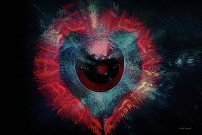 Digital Art - Eye Heart by Linda Sannuti