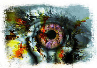 Eye In Hands 001 Art Print