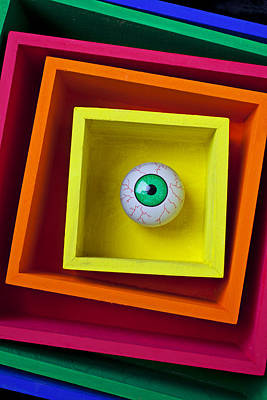 Eye In The Box Art Print by Garry Gay