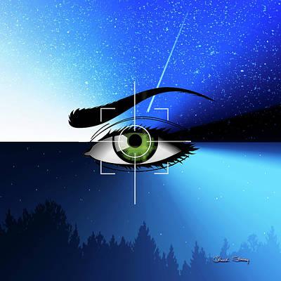 Digital Art - Eye In The Sky by Chuck Staley