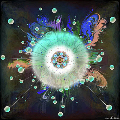 Digital Art - Eye Know Dark Two by Iowan Stone-Flowers