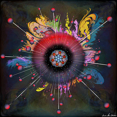 Digital Art - Eye Know Dark by Iowan Stone-Flowers