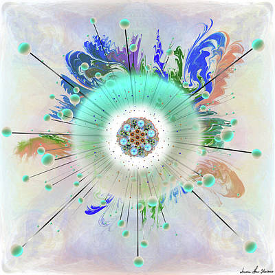 Digital Art - Eye Know Light Two by Iowan Stone-Flowers