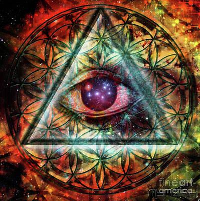 Digital Art - Eye by Mynzah