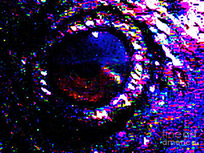 Nature Abstract Mixed Media - Eye Of A Raven by Wingsdomain Art and Photography