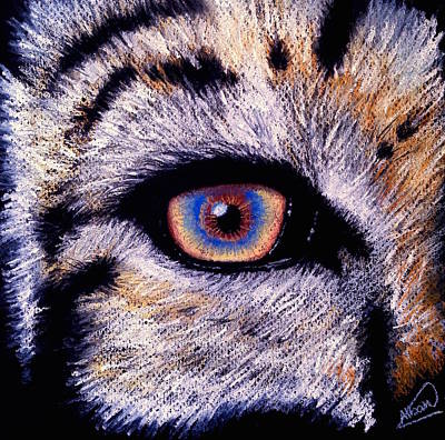 Drawing - Eye Of A Tiger by Alban Dizdari