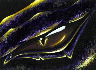 Dragon Painting - Eye Of Ametrine by Elaina  Wagner