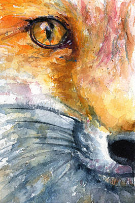 Painting - Eye Of Fox by John D Benson