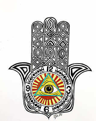 Eye Of Good Fortune  Art Print by Pierce Puckette
