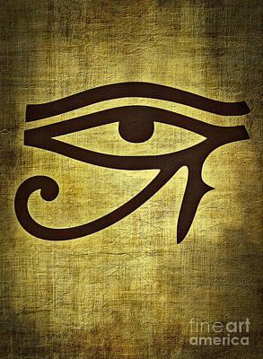 Wadjet Digital Art - Eye Of Horus by Binka Kirova