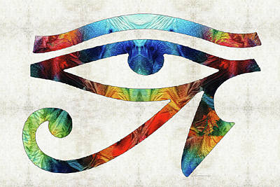 Pharaoh Painting - Eye Of Horus - By Sharon Cummings by Sharon Cummings