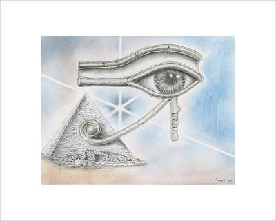 Horus Drawing - Eye Of Horus by Daniel Kraus
