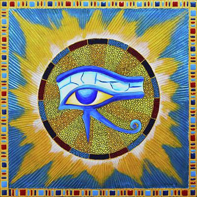 Painting - Eye Of Horus Dot Art by Olesea Arts