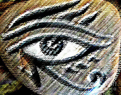 Mixed Media - Eye Of Horus by Maria Arango