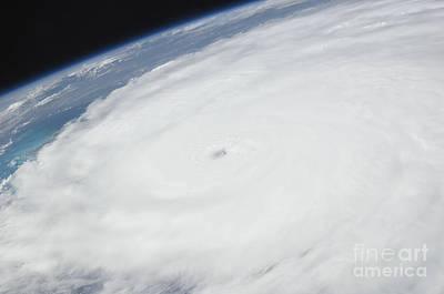 Photograph - Eye Of Hurricane Irene As Viewed by Stocktrek Images