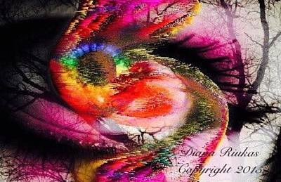 Digital Art - Eye Of Life Storm by Diana Riukas