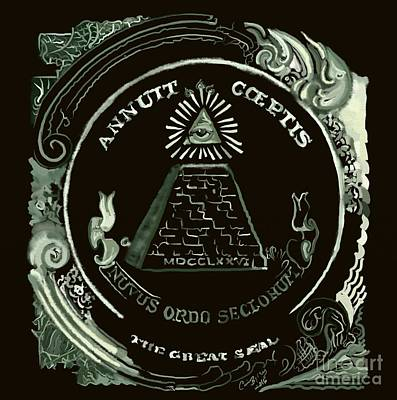 Money God Painting - Eye Of Providence by Carrie Joy Byrnes