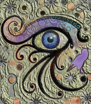 Digital Art - Eye Of Ra by Carol Jacobs