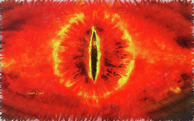 Reptiles Digital Art - Eye Of Sauron by Leonardo Digenio