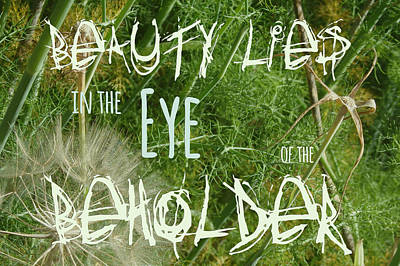 Photograph - Eye Of The Beholder by Elena Schaelike