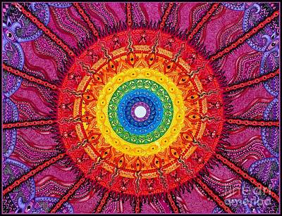 Drawing - Eye Of The Chakra Storm by Baruska A Michalcikova