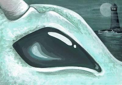 Sea Dragon Painting - Eye Of The Coast Dragon by Elaina  Wagner