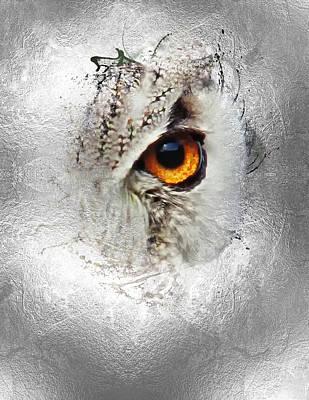Digital Art - Eye Of The Owl 2 by Fran Riley