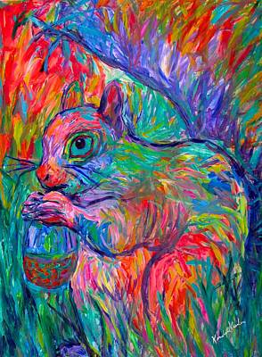 Painting - Eye Of The Squirrel by Kendall Kessler