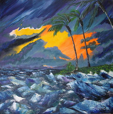 Knifework Painting - Eye Of The Storm by Susan Kubes
