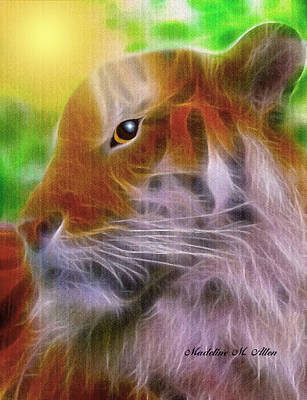 The Tiger Digital Art - Eye Of The Tiger by Madeline  Allen - SmudgeArt