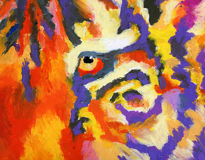 Eye Of The Tiger Print by Stephen Anderson
