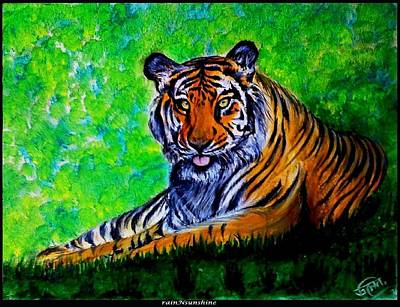 Painting - Eye Of The Tiger by Trinath Sen