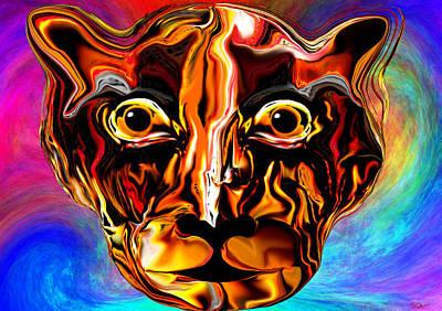 Conceptual Digital Art - Eye Of The Tigress by Abstract Angel Artist Stephen K