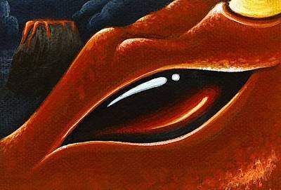 Eye Of The Volcano Dragon Art Print