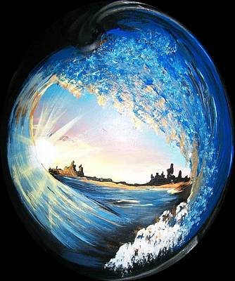 Art Print featuring the painting Eye Of The Wave by Sharon Duguay