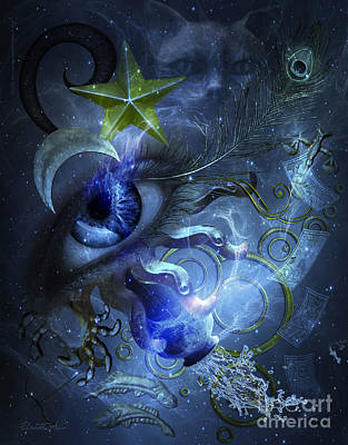 Signs Of The Zodiac Digital Art - Eye Of The Witch by Betta Artusi